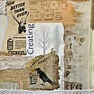 Vintage Black And White Collage by Evelyn Flint