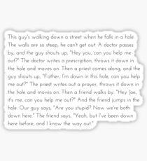 Leo McGarry Guy Falls in a Hole Speech Sticker