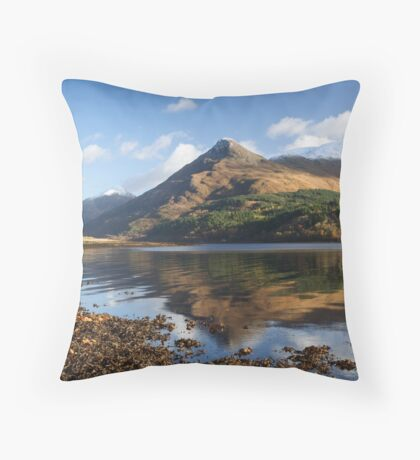 The Pap of Glencoe Throw Pillow