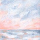 Good Morning - Pink and Orange Sunrise Seascape by KristenLacziArt