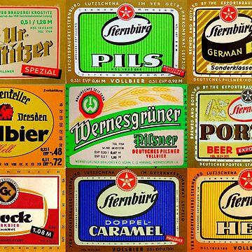 Vintage Beer Label Print by adamcampen