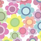 Seamless Flower Pattern 1 by mstiv
