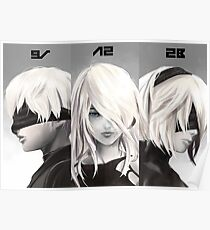 Nier-Portrait-Set Poster