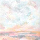 Dissipate - Bright Colorful Ocean Seascape by KristenLacziArt