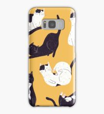 Outstanding Cats in Yellow Samsung Galaxy Case/Skin