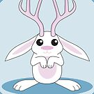 White Jackalope by mstiv