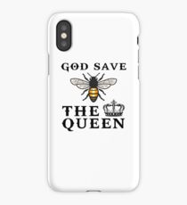 God save the queen bee iPhone Case/Skin