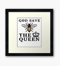 God save the queen bee Framed Print