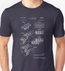 Lego Patent - Dark Background Slim Fit T-Shirt