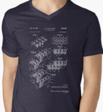 Lego Patent - Dark Background Men's V-Neck T-Shirt