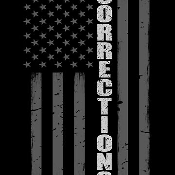 Corrections Officer Thin Silver Line American Flag by bluelinegear