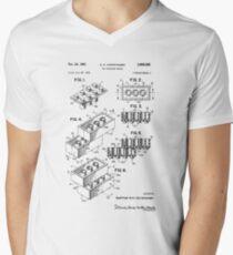 Camiseta para hombre de cuello en v Patente Lego