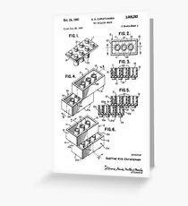 Lego-Patent Grußkarte