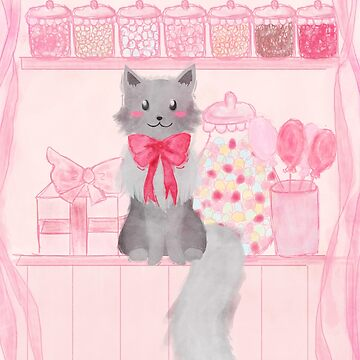 Candy Shop Cat by lexamay