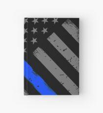 Polizist Flagge dünne blaue Linie Unterstützung Notizbuch