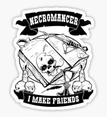 Necromancer RPG Funny Shirt for Men, Women, Kids Sticker