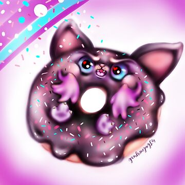 Grumpy Bat Doughnut - Goth Sweet Cakes by sarahmwall