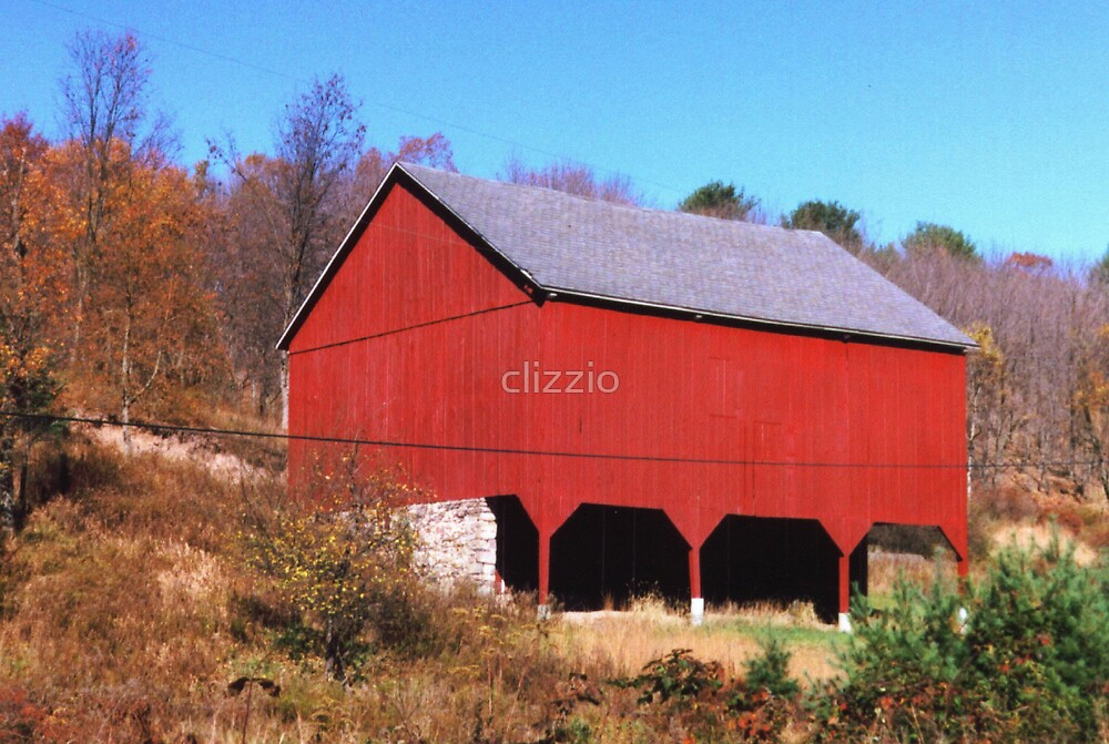 Carbon County Red Barn by clizzio