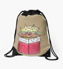Punny Burger King Drawstring Bag