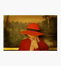red hat Photographic Print