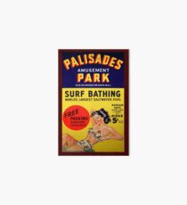 PALISADES AMUSEMENT PARK Art Board