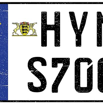 HYMER S700 NUMBER PLATE by TommyRegan