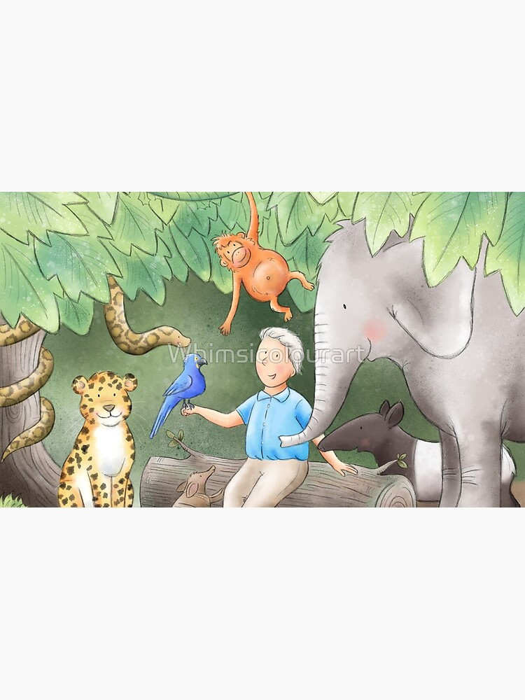 David Attenborough de Whimsicolourart