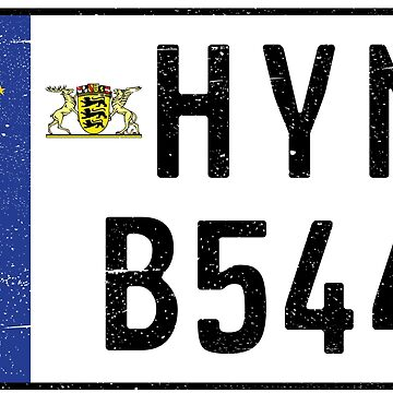 HYMER B544 NUMBER PLATE by TommyRegan