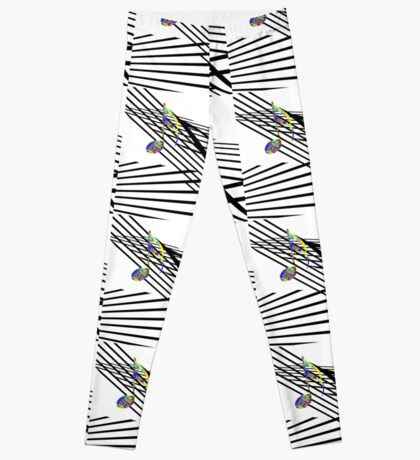 Colorful Music on Black and White Leggings
