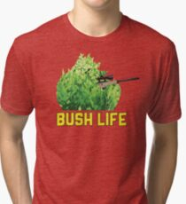FortNite Gamer Bush Life Camper  Tri-blend T-Shirt