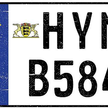 HYMER B584 NUMBER PLATE by TommyRegan