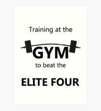 Elite Four Gym Shirt Art Print