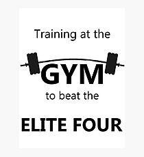 Elite Four Gym Shirt Photographic Print