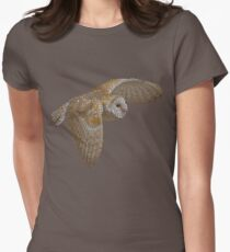 Bubbly Barn Owl Women's Fitted T-Shirt