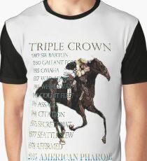 Triple Crown Winners 2015 American Pharoah Graphic T-Shirt