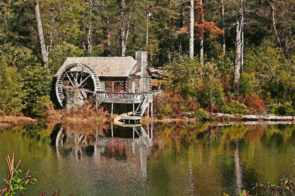 Waterwheel Cabin by Karen Kaleta