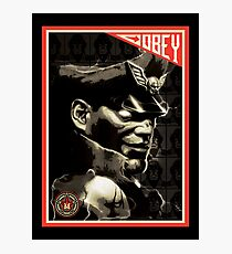 Obey lord Bison Photographic Print