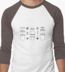 Pieces of a Space Bucket Men's Baseball ¾ T-Shirt