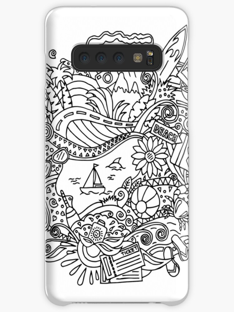 Summer Coloring Pages Cases Skins For Samsung Galaxy By Albert