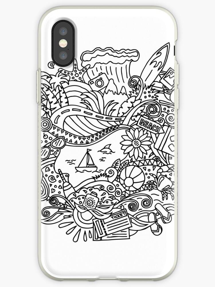 Vinilo O Funda Para Iphone Verano Dibujos Para Colorear De Albert Buchatskyy