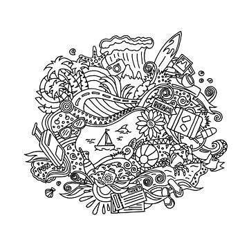 Summer  / Coloring pages by idollisimo