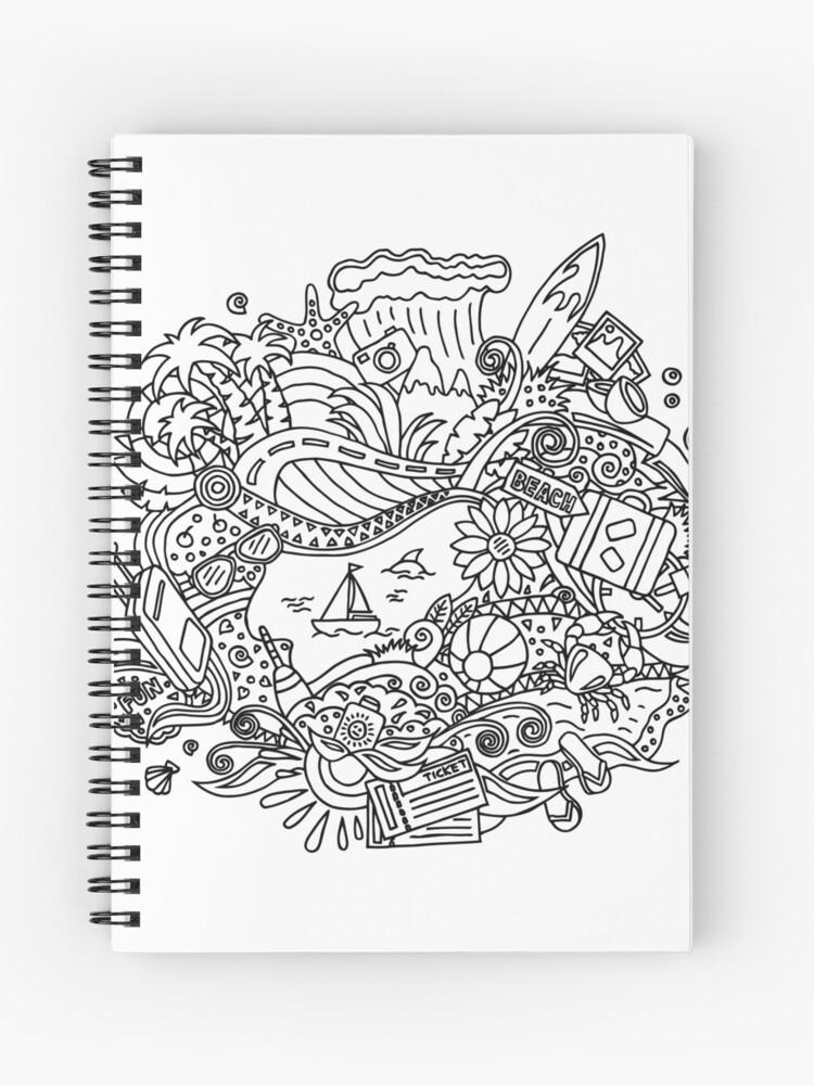Verano Dibujos Para Colorear Cuaderno De Espiral