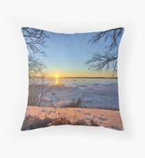 Out On Clear Lake Throw Pillow