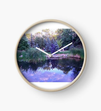 Blue Reflections Clock