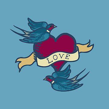 Love Birds Tattoo  by DExIGN