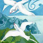 Tropic birds of Polynesia by Andrea England