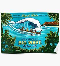 Kona große Welle Poster