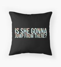 Jumping to conclusions.  Throw Pillow