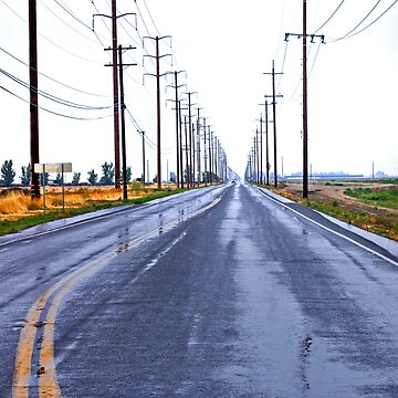 Rainy Country Road by Buckwhite