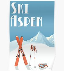 Vintage Ski Aspen Poster Poster